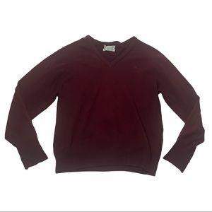 Vintage Christian Dior v neck maroon sweater